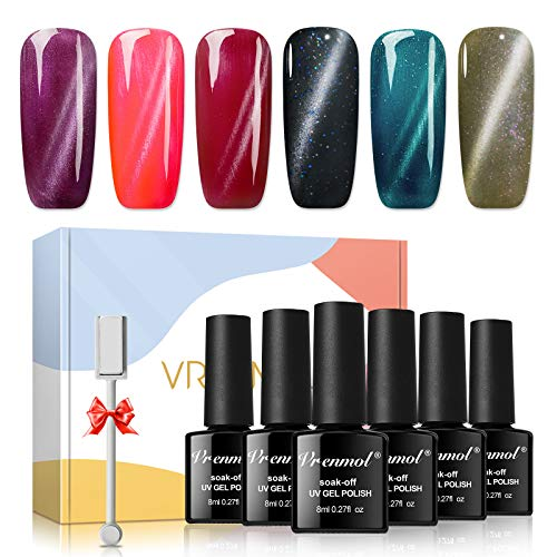 Vrenmol Builder Gels Nail Kit - Nail Extension Gel Kit Nail Strengthen Hard Gel Nail Art Manicure Set with Nail Gel Builder, 100pcs Nail Forms & Nail Brush for Nails Art Supplies…