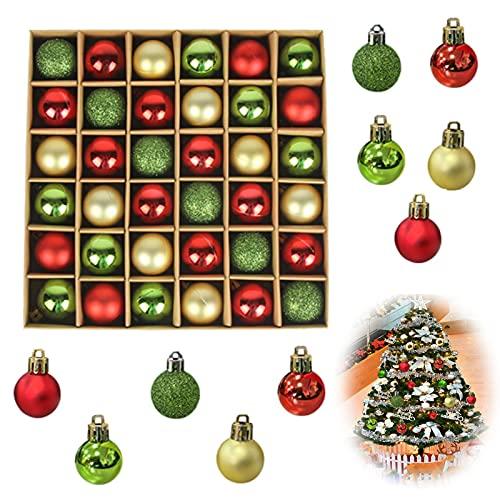36pcs Bolas de Plástico para Adornos Navideños Adornos de Bolas de Arbol de Navidad Adornos Navideños de Plástico Brillante Bolas Navideñas de Plástico para La Decoración de Bodas de Navidad