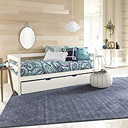 White trundle bed single size