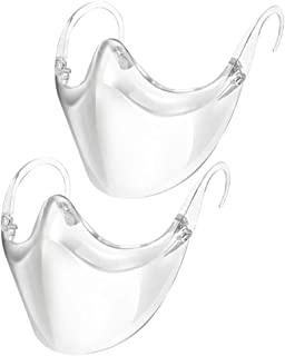 Transparent_Face_Mask, Clear Combine Plastic Reusable Clear Face Bandanas, Upgraded Breathable, Visible Expression, for Ad...