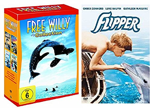 Free Willy Box Collection Teil 1-4 (1+2+3+4) + Flipper / DVD Set / 5 Filme