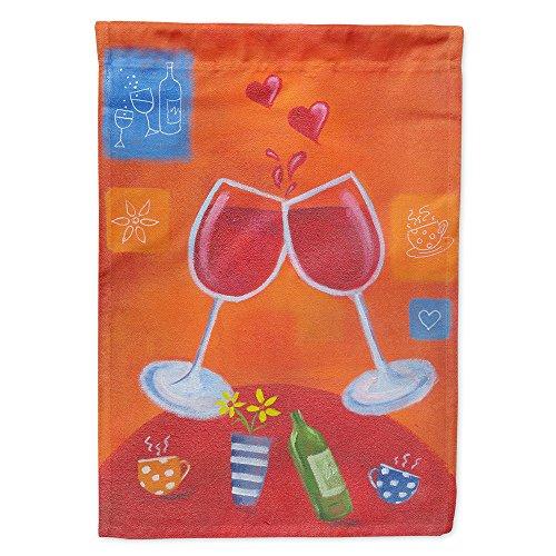 Caroline 's Treasures lsl0171chf Wein TOAST Cheers von Sarah Latham Leinwand House Flagge, Groß, multicolor