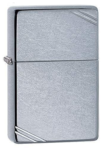 Zippo Vintage with Slashes Street Chrome Pocket Lighter