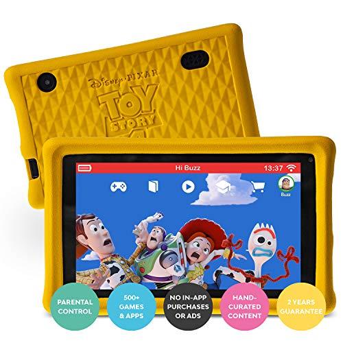 Pebble Gear Kids Tablet 7  - Disney Pixar Toy Story 4 con Custodia Protettiva per Bambini, Controllo parentale Completo, Filtro Luce Blu per Bambini, Oltre 500 Giochi, apps ed e-Books, Wi-Fi, 16 GB