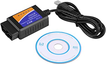 Diagnostic Cable, Professional Plastic Car USB Connector V1.5 OBD2 Diagnostic Cable Interface Scanner PC-based Scan Tools with CD Driver for Benz BMW Citroen