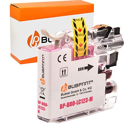 Bubprint Kompatibel Druckerpatrone als Ersatz für Brother LC-123M LC123M LC 123 für MFC-J4510DW MFC-J470DW MFC-J6520DW MFC-J6720DW MFC-J6920DW MFC-J870DW Magenta