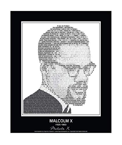 Inspirational Malcolm X Quote Poster. Malcolm X Poster made of Malcolm X Quotes! Wall Art. Print. Home Decor. 24' x 30' (unframed)