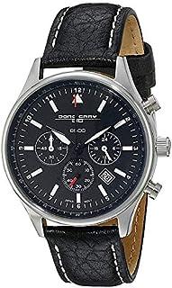[ヨーググレイ]JORG GRAY メンズ バラク・オバマ 記念エディション クロノグラフ 37ミリ 10気圧防水 ブラック レザー シルバーケース ブラック文字盤 JG6500-21 腕時計 [並行輸入品]