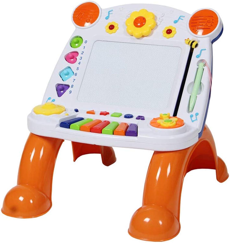 LIUFS Kinder Magnetische Reibrett Tastatur Schreibtisch Staffelei ( Farbe   Wei )