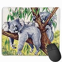 マウスパッド かわいい コアラ 木 高級感 おしゃれ 防水 耐久性が良い 滑り止めゴム底 ゲーミングなど適用 ( 30*25*0.5cm )マウスパッド
