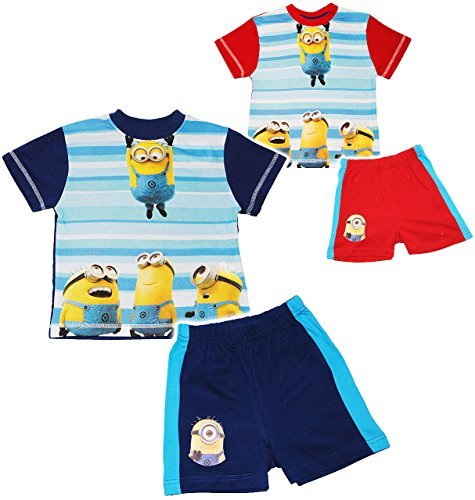 alles-meine.de GmbH 2 TLG. Set: T-Shirt & Kurze Hose -  Minions - Ich einfach unverbesserlich  - Größe 6 bis 7 Jahre - Gr. 122 bis 128 - als Pyjama / Sommerset / Strandbekleidu..