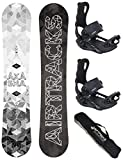 AIRTRACKS Snowboard Set - Tabla Akasha Wide 157CM - Fijaciones Master L - SB Bag/Nuevo