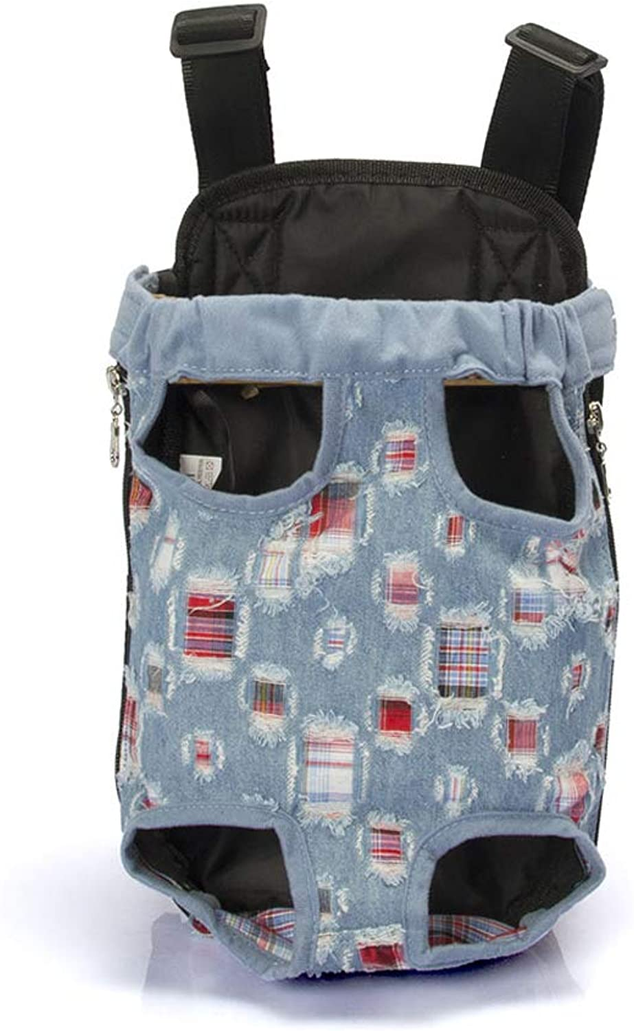 Pet Carrier Dog Backpack Denim Canvas Chest Bag Portable