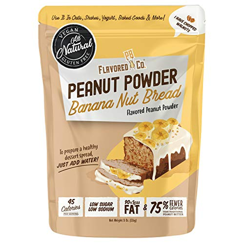 Flavored PB Co. Peanut Butter Powder, Low Carb and Only 45 Calories, All-Natural from US Farms (Banana Nut Bread)