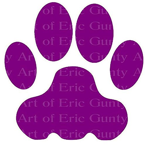 2' Round - Purple Panther Tiger Paw Birthday - Edible Cake/Cupcake Party Topper - D22949