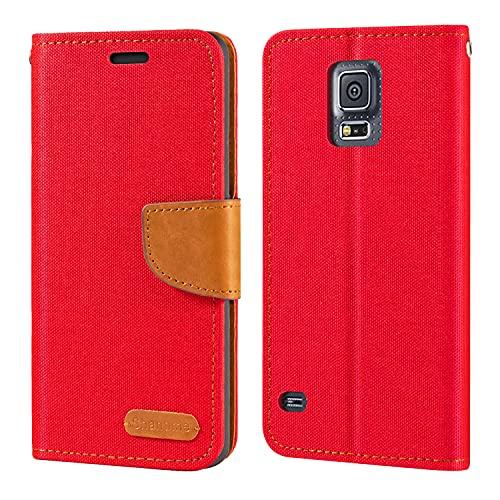 Funda para Samsung Galaxy S5 i9600 de piel Oxford con tapa trasera...
