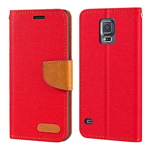 Funda para Samsung Galaxy S5 i9600 de piel Oxford con tapa trasera de TPU suave con imán para Samsung Galaxy S5 i9600