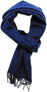 Joshua Ellis Unisex Plain Brushed Escorial Wool Scarf - Blue