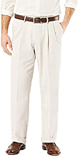 Covington Men's Comfort Waistband Perfect Classic Fit Pleated Dress Pants - Variety -