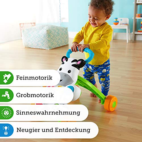 Fisher-Price DLD94 Zebra Lauflernwagen Lauflernhilfe mit Musik und Lichtern lehrt Buchstaben und Zahlen, ab 6 Monaten deutschsprachig - 7