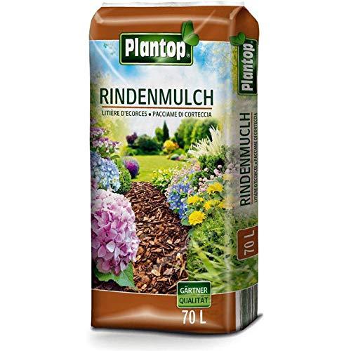 Rindenmulch Plantop 70 Liter Körnung 10-40mm NEU Garten-Mulch Dekormulch Qualität aus Bayern !