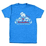Donkey Tees Stay Puft Marshmallows Funny Old School Movie Ghost Fighting Marshmallow Man 50/50 Unisex Shirt Large Heather Royal
