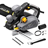 JELLAS 7.5Amp Power Hand Planer, 16,500Rpm Electric Planer, 3-1/4 Inch Cut Width, Dual-dust out System,...
