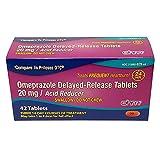OHM Omeprazole Tablets, Delayed-Release Tablets, 20mg Acid Reducer, 42 Tablets