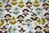 Baumwoll Druck - Affen