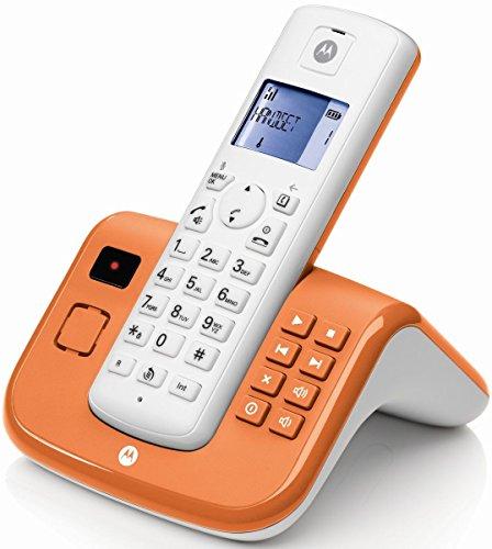 Motorola T211CO Schnurlostelefon weiß/orange