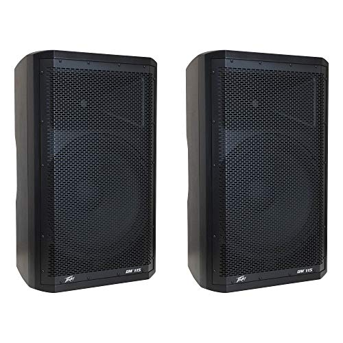 Peavey Dark Matter DM115 Pro DJ 2-Way Active 15 Inch Powered PA Speaker (2 Pack)