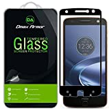 Dmax Armor [2-Pack] for Motorola Moto Z Force Droid Screen Protector, (Full Screen Coverage) [Tempered Glass] Anti-Scratch, Anti-Fingerprint, Bubble Free, (Black)