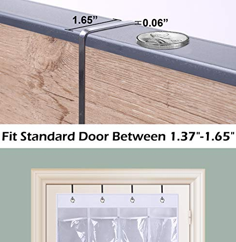 AOODA Clear Hanging Shoe Organizer Over the Door Shoe Bag Hanging Organizer Rack Closet Storage with 24 Large Pockets 2 Packs White