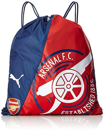 Puma Arsenal Fanwear Gym Sack Turnbeutel, high Risk red-Peacoat, 44 x 31 x 0.5 cm