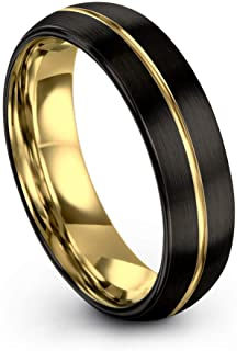 Midnight Rose Collection Tungsten Wedding Band Ring 6mm...