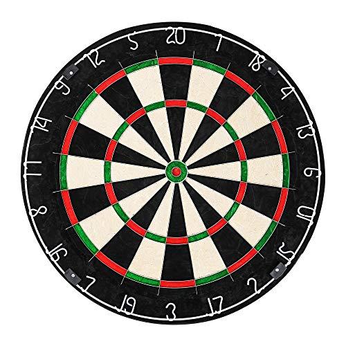 Edaygo Dartscheibe für Steeldarts Dartboard, Durchmesser 45,5 cm, Dicke 3,5 cm, African Top Grade Sisal, inkl. Wandhalterung