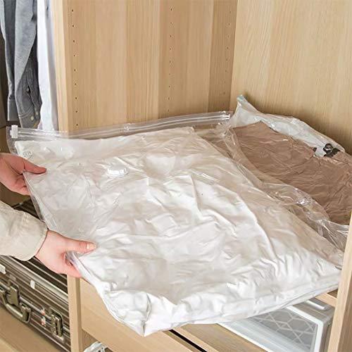 ふとん圧縮袋6枚セット[布団圧縮袋L4枚80*60cm+XL2枚100*80cm]衣装ケース用衣類圧縮袋掛け布団収納袋布団収納袋逆流防止弁付き「バルブ」気密性の高いダブル構造ダニ、カビ対策