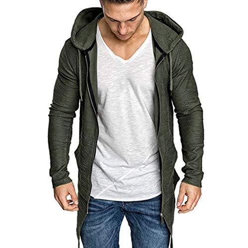 Beonzale Männer Spleißen Mit Kapuze Solide Trenchcoat Jacke Strickjacke Langarm Outwear Jacke Mantel Sweatshirt Top Bluse
