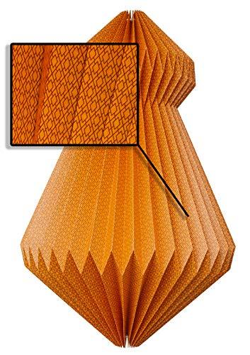 Fair Trade Origami Luz Vestido Almas Neon–Pantalla para lámpara de Papel/–Esfera Comercio Justo