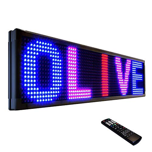 """OLIVE LED Sign 3Color RBP, P30, 22""""x60"""" IR Programmable Scrolling Outdoor Message Display Signs EMC - Industrial Grade Business Ad Machine."""