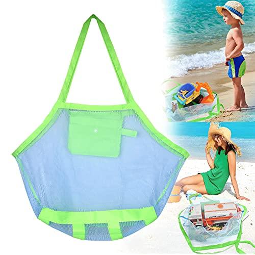 Bolsa de malla para juguetes de playa, bolsas de almacenamiento portátiles para niños, bolsa de playa de malla ligera y duradera para sostener juguetes de playa,deportes al aire libre, picnic piscina