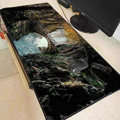 Art Mousepad 9.5x7.9 Inches 11.8-inch by 9.85-inch Natural Rubber Mouse Pad with Photo of The Milk Way Galaxy Starry Night Stitched Edges