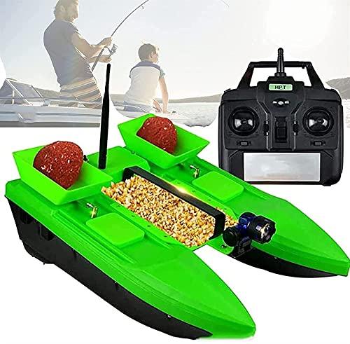 HHORB Barco De Cebo De Pesca con Control Remoto, Control Remoto De 500 M, Bote De Velocidad De Control Remoto De Gran Capacidad De 2 Kg, Buscador De Peces De Doble Motor, Regalo De Pesca para Hombres