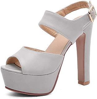BalaMasa Womens ASL06701 Pu Platform Heels