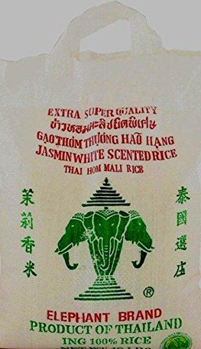 Jasmin White Scented Rice (Thaihom Mall Rice) Elephant Brand 25lbs