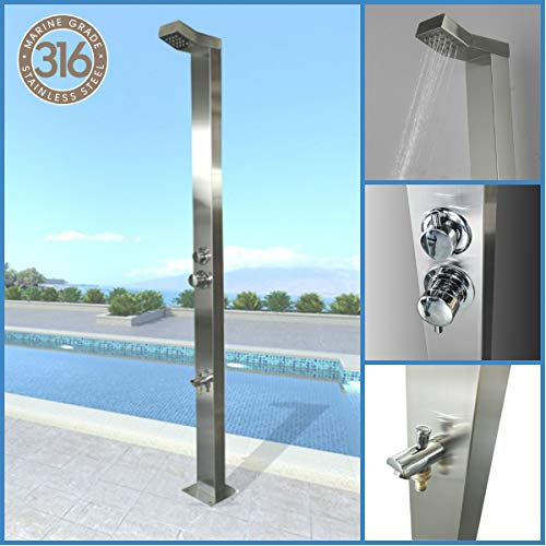 Find Cheap 316 Marine Grade Stainless Steel Outdoor Shower Panel (BONDI) Swimming Pool Backyard Bath...