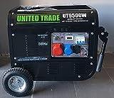 UNITED TRADE Generador de explosión/grupo electrógeno / generador de corriente HP 6.5 arranque eléctrico con llave y mando a distancia con carro – Trifásico – Modelo 2021