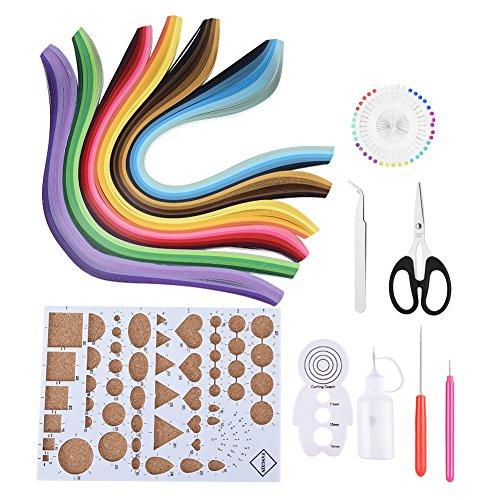 14PCS Kits quilling papel 6 colores DIY Handcraft