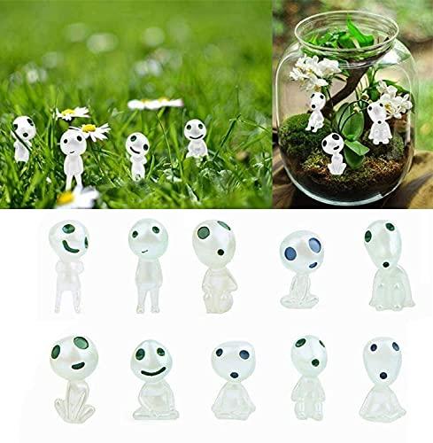 10 Piezas de Figuras en Miniatura Luminosas de Fantasmas de jardín, Elfos...
