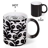 Discoloration Mug カラーパンダ 変色マグコーヒーマグミルクカップホーム/オフィス/顧客カップルギフト330 ml耐久性のある耐熱水マグ
